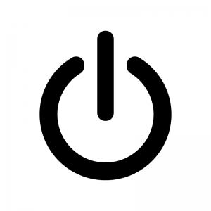 リンゴのマークは電源マーク。オン1とオフ0の組み合わせ。